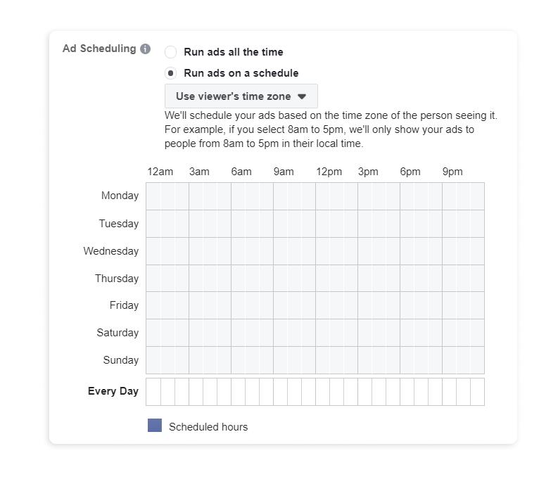 Facebook Ads scheduling