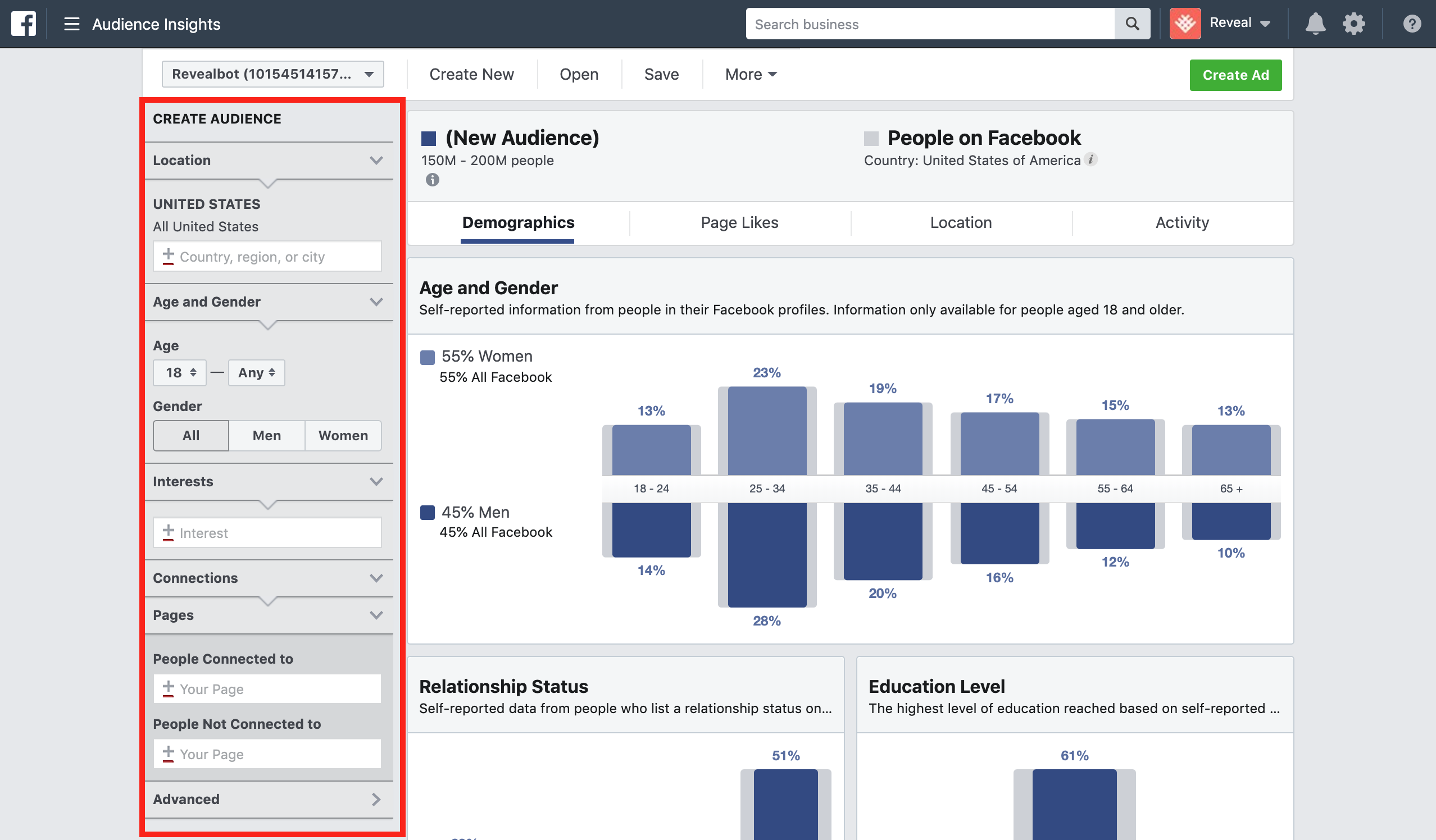 The basics of Facebook Audience Insights filters