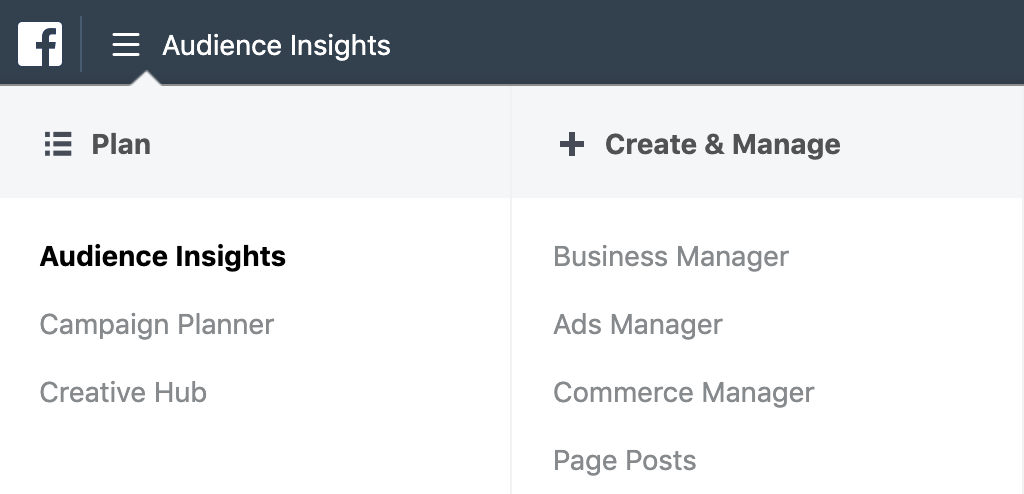 How to get to Facebook Audience Insights