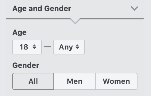 How to narrow your audience by age and gender in Facebook Audience Insights