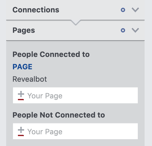 How to narrow your audience by connections in Facebook Audience Insights