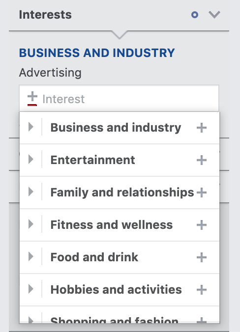 How to narrow your audience by interests in Facebook Audience Insights