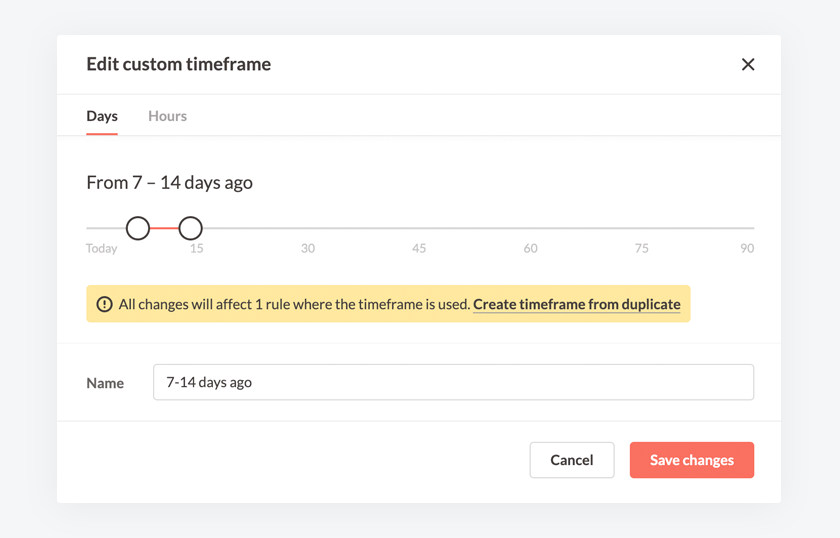 Make your own custom time frames in Revealbot automated rules