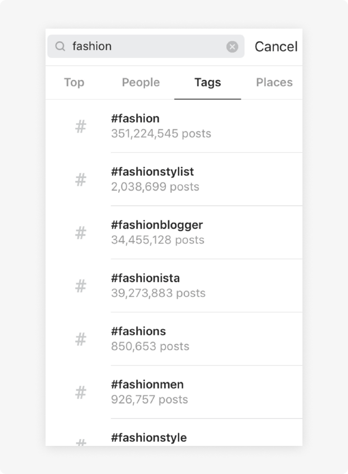 Searching Instagram for fashion